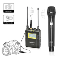 Wireless Handheld Microphone for DSLR Camera,Saramonic UWMIC9 UHF Interview Microphone System with Handheld Mic and Receiver