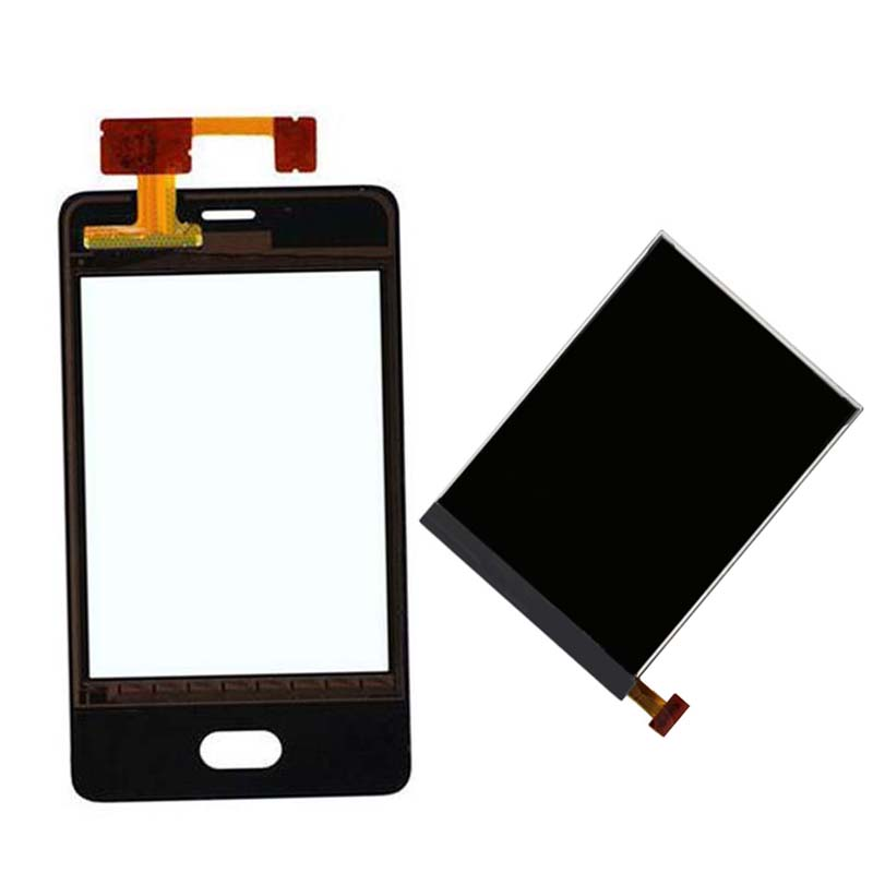 For Nokia Asha 501 N501 Touch Screen Digitizer Sensor Glass + LCD Display Screen Panel Monitor Replacement