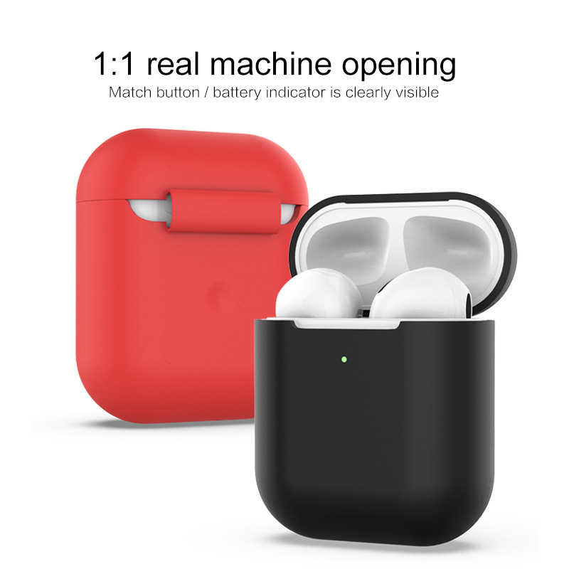 Soft Silicone Case For Apple Airpods2 Shockproof Cover For Apple AirPods 2 thickening Earphone Cases Air Pods2 Protector Case