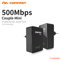 COMFAST 500Mbps Powerline Ethernet Adapter Extender High Speed Mini PLC Homeplug IPTV Network Power Line Adapter