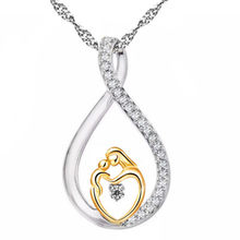 2017 New Moms Jewelry Birthday Gift For Mother Baby Heart Charm Pendant Family Love Chain Necklace