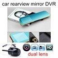 free shipping Full HD Dual Lens Registraror Car DVR Camera 4.3 Inch Rearview Mirror Digital Video Recorder Camcorder
