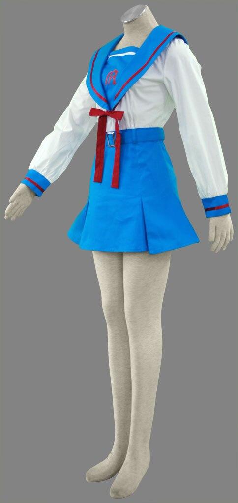 Envío Gratis Suzumiya Haruhi No Yuuutsu Anime Cosplay Asahina Mikuru Escuela De Invierno Uniforme De Cosplay Para Halloween Disfraces Www Partypieces Se