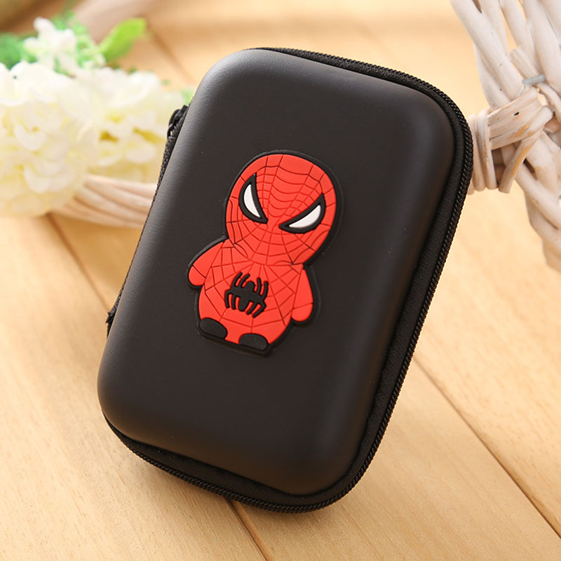 Lovely Spider-man Coin Wallet Silicone Coin Purse Dollar Pouch Case Anime Spider Men Patterns Key Headset Package Bags Wallets пластилин spider man 10 цветов
