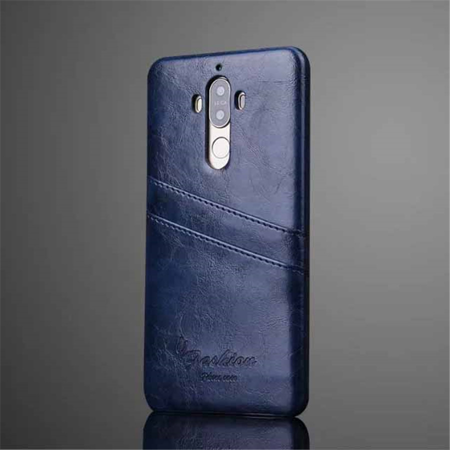 For Huawei Mate 9 Pro Luxury Retro Oil Wax PU Leather Case For For Huawei Mate 9 Ultra Thin Phone Cover Back Card Slots
