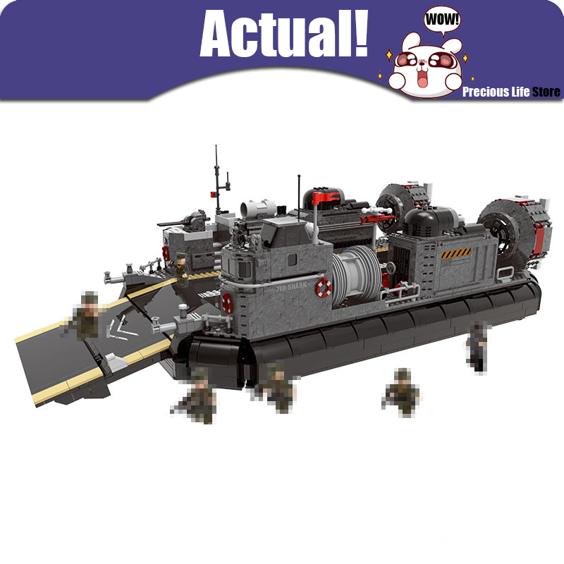 XingBao Military Across the Battlefield Hovercraft 06019 3006PCS War Model Building Blocks Bricks Enlighten Toys for children rollercoasters the war of the worlds