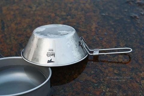 titanium camping bowl