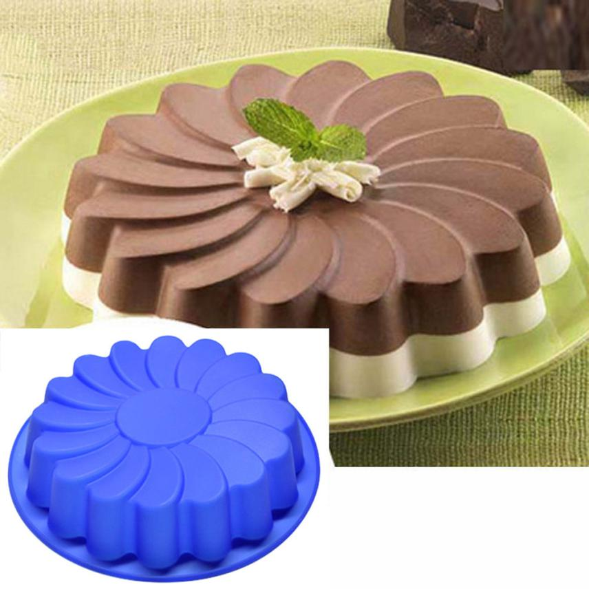 Hot Sales Large Flower Cake Mould Chocolate Soap Candy Jelly Stencil Baking Pan Accessoires Patisserie Cake Decorating Tools