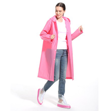 Fashion EVA Women Raincoat Thickened Waterproof Rain Coat Clear Transparent Camping Rainwear Suit