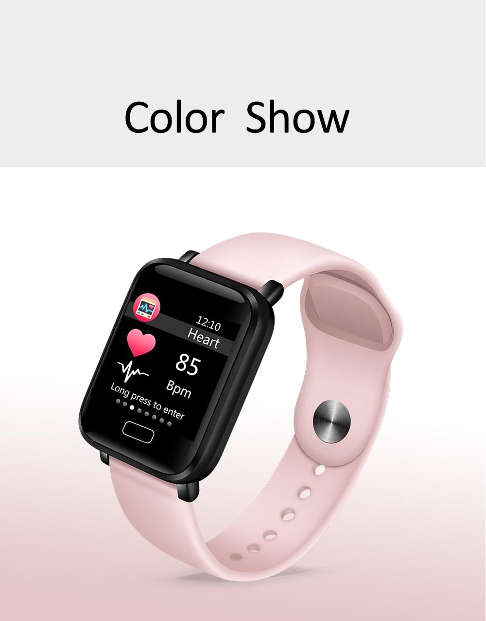 LIGE Smart Bracelet Women IP67 Waterproof Fitness Tracker Wristband Pedometer Heart Rate Monitor Sport Smart watch Android ios