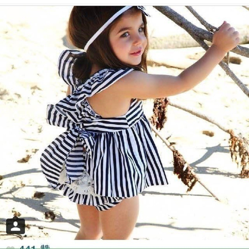 17 Summer Vestidos Baby Girl Dresses Princess Children Dress Stripe Baby Clothing Kids Girl Dress Brand Girls Clothes Costumes 3