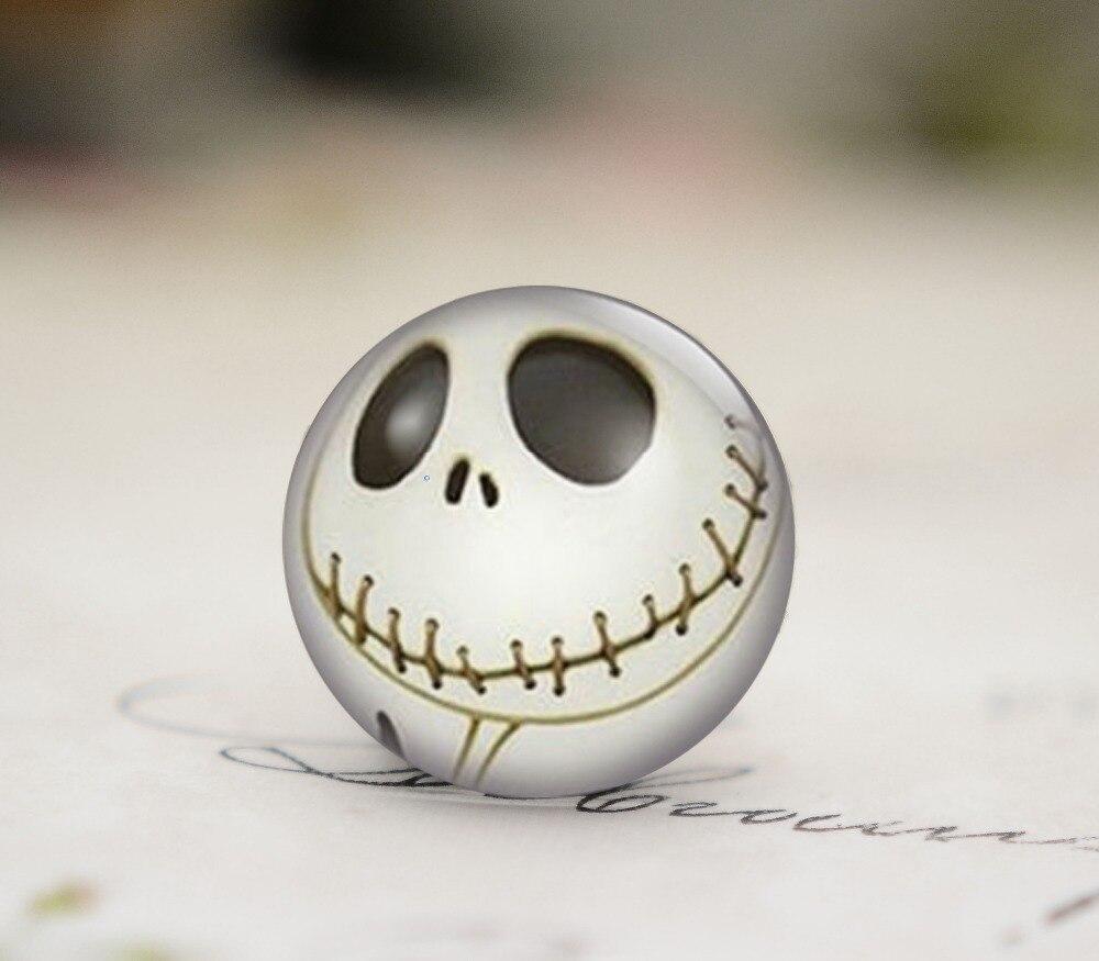 10pcs 25mm New Fashion Handmade skull Photo Glass Cabochons  (B1-9)
