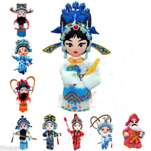 wholesale 8pcs Chinese Rubber Beijing Opera Figures Fridge Soft Magnet