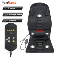 Full Body Back Neck Waist infrared Therapy Heated Massage Electric Vibrator Cushion Seat Car Home Office Massage Chair Pad
