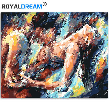 Abstract Nude Oil Painting By Number Kits for Adults Framed Paintings for Living Room Wall Nordic Decoration