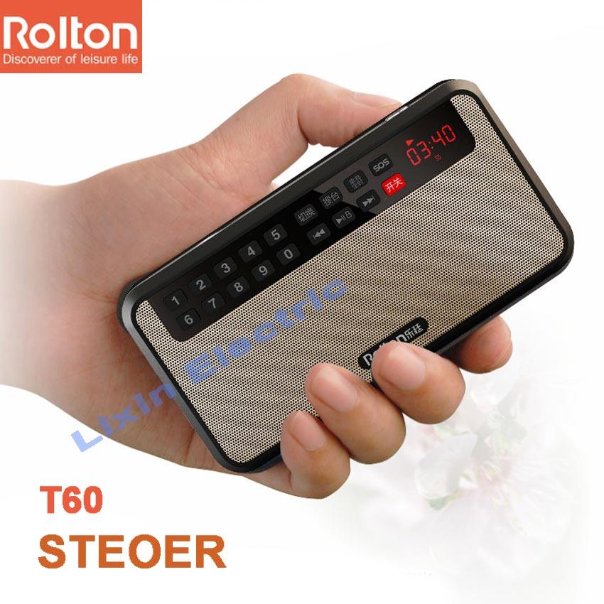 RoltonT60 MP3 Stereo Oyunçu Mini Portativ Səs Dinamiklər FM Radio - Portativ audio və video - Fotoqrafiya 3