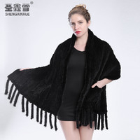 2019 fashion warm mink fur fur shawl large size mink scarf woven scarf shawl mink fur coat free shipping