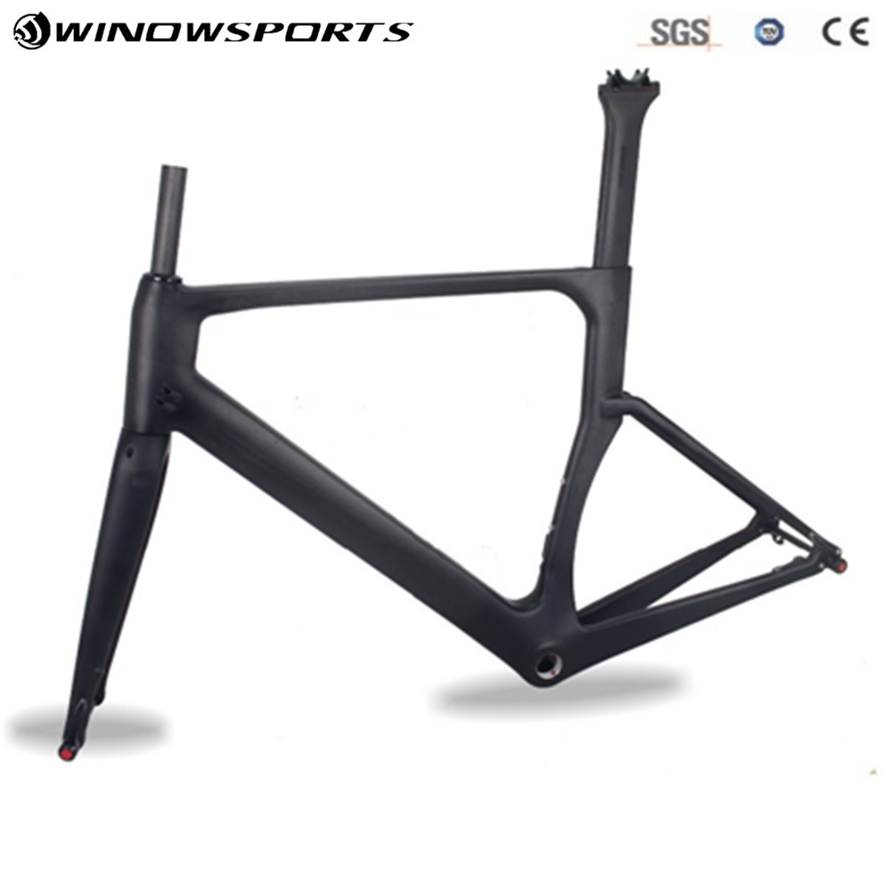 2018 winow Aero Disc carbon fiber road frame racing bike carbon road frame+fork+seatpost+headset carbon road bike frameset цена в Москве и Питере