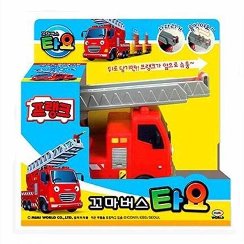 Tayo die wenig bus mini rot Feuer lkw Frank kinder spielzeug modell auto tayo tayo bus miniatura de carro juguetes educativos para ninos