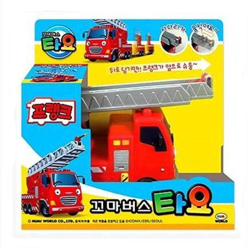Tayo the little bus mini red Fire truck Frank kids toy model car tayo tayo bus miniatura ...