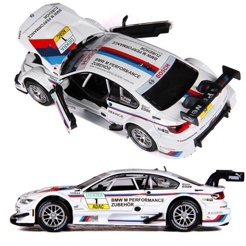 1:32 Scale Diecast Alloy Metal Luxury Racing Car Model For The M3 DTM Collection Model Pull Back Toys Car With Sound&Light m261