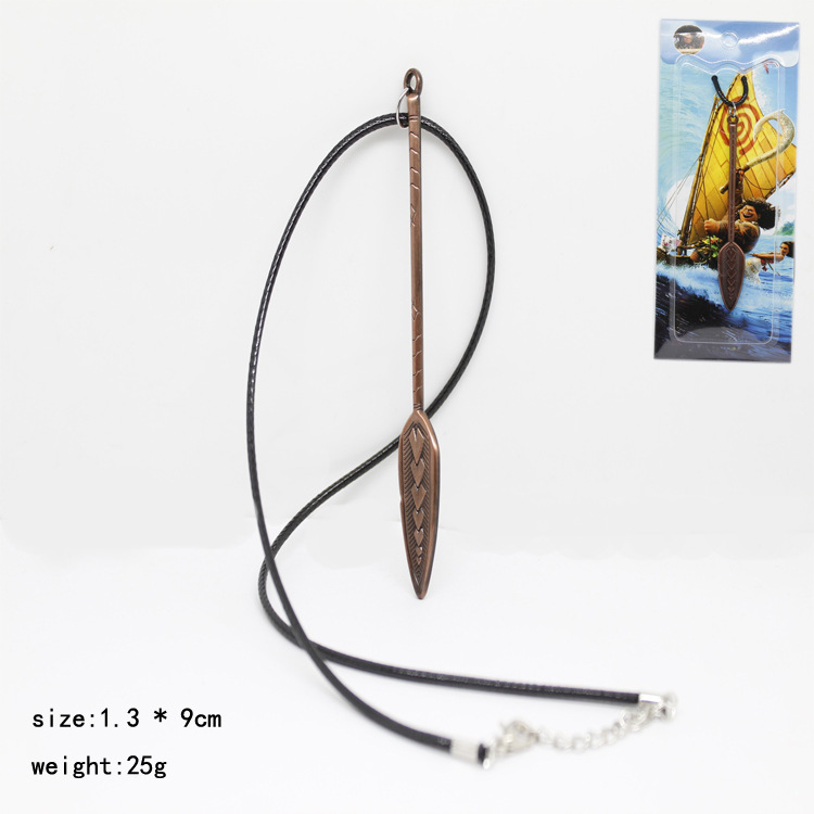 Animie Polynesia princess Moana necklace Movie Cosplay Costume Alloy Shovel Necklace
