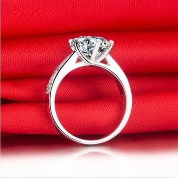 Solid Platinum Side gem studded 2CT Moissanite Diamond Engagement Ring 4