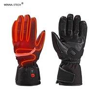 Зимние теплые перчатки с подогревом Для мужчин Для женщин Открытый спортивные перчатки Лыжный Спорт Восхождение мотоцикл езда отопление п