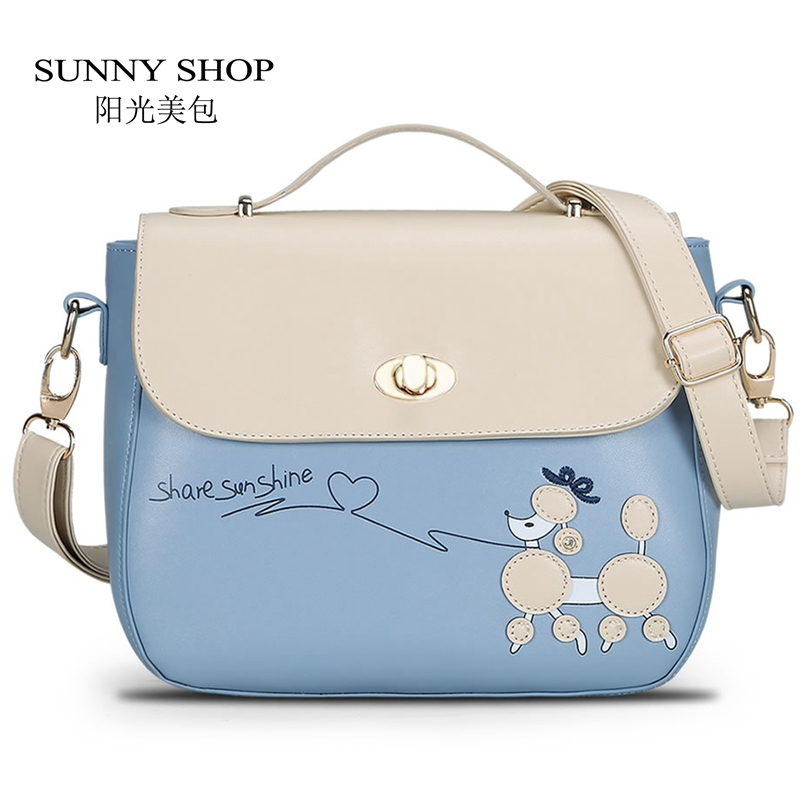 Sunny Pretty Women Summer Messenger Bags Fresh Dog Cartoon Handbag Candy Color Shoulder For Age S