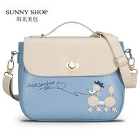 SUNNY SHOP Pretty Women Summer Messenger Bags Fresh Dog Cartoon Women Handbag Candy Color Women Shoulder Bags For Teenage Girls