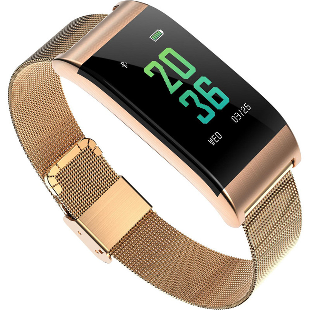 HAIOM New A66 Fashion All-Metal Bluetooth Smart Watch Ring Heart Rate Blood Pressure Blood Oxygen Fatigue Monitoring One-button