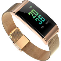HAIOM New A66 Fashion All Metal Bluetooth Smart Watch Ring Heart Rate Blood Pressure Blood Oxygen Fatigue Monitoring One button