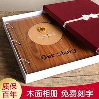 567 Дюймов Деревянный смешанный тип страницы галерея это коробках семейный альбом для любителей путешествий