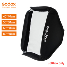 Godox 40 × 40センチ50 × 50センチ60 × 60センチ80 × 80センチ折りたたみソフトボックスフラッシュスピードライトフラッシュソフトボックス用s タイプブラケットフィットbowens elinchromマウント