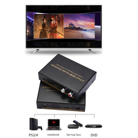 HOT 1x2 HDMI Splitter with Integrated Audio Extractor Optical RCA L/R Stereo Outputs BUS66