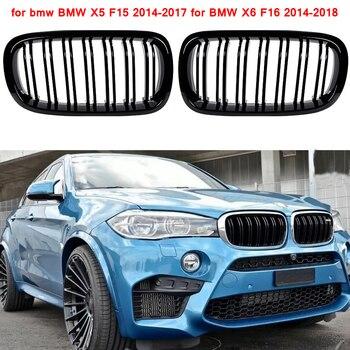 Cho XE BMW F15 dạng lưới tản nhiệt dòng trước thay thế thận nướng độ đen bóng cho XE BMW X6 F16 2014-2018