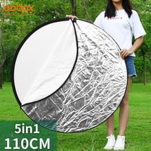 Godox 43 110 5 cm 5 em 1 luz dobrável portátil refletor de fotografia redonda para estúdio