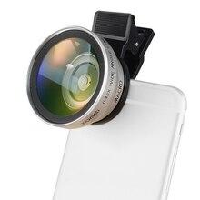 ZOMEI мобильный телефон камера макрообъектив 37 мм 0.45X широкоугольный зажим Универсальный для Android ios iphone 7/7s samsung сотовый телефон