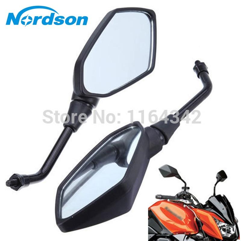 Black Universal Motorcycle Mirror motorbike Rearview Side Mirror M10 For Honda Yamaha Suzuki Motorcycle Accessories qc m prince universal 0 8mm motorcycle rearview mirror silver black pair