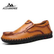 Men's Leather Casual Shoes Moccasins 2019 Men Loafers Luxury Brand Spring New Fashion Sneakers Male Boat Shoes Black Big Size