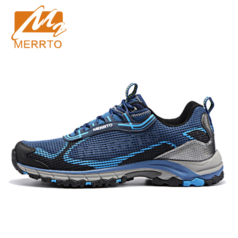 2017 Merrto Lovers Trail Running Shoes Lightweight Breathable Outdoor Sports Shoes Mesh For Lovers Free Shipping MT18596/MT18595