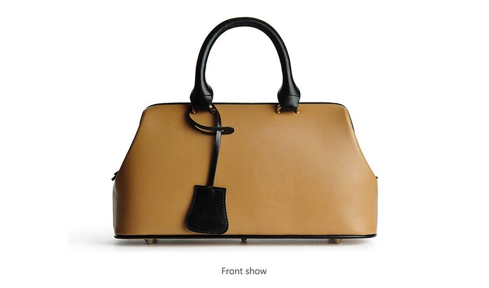 Sac a Main Femme en cuir véritable Style Vintage mode classique