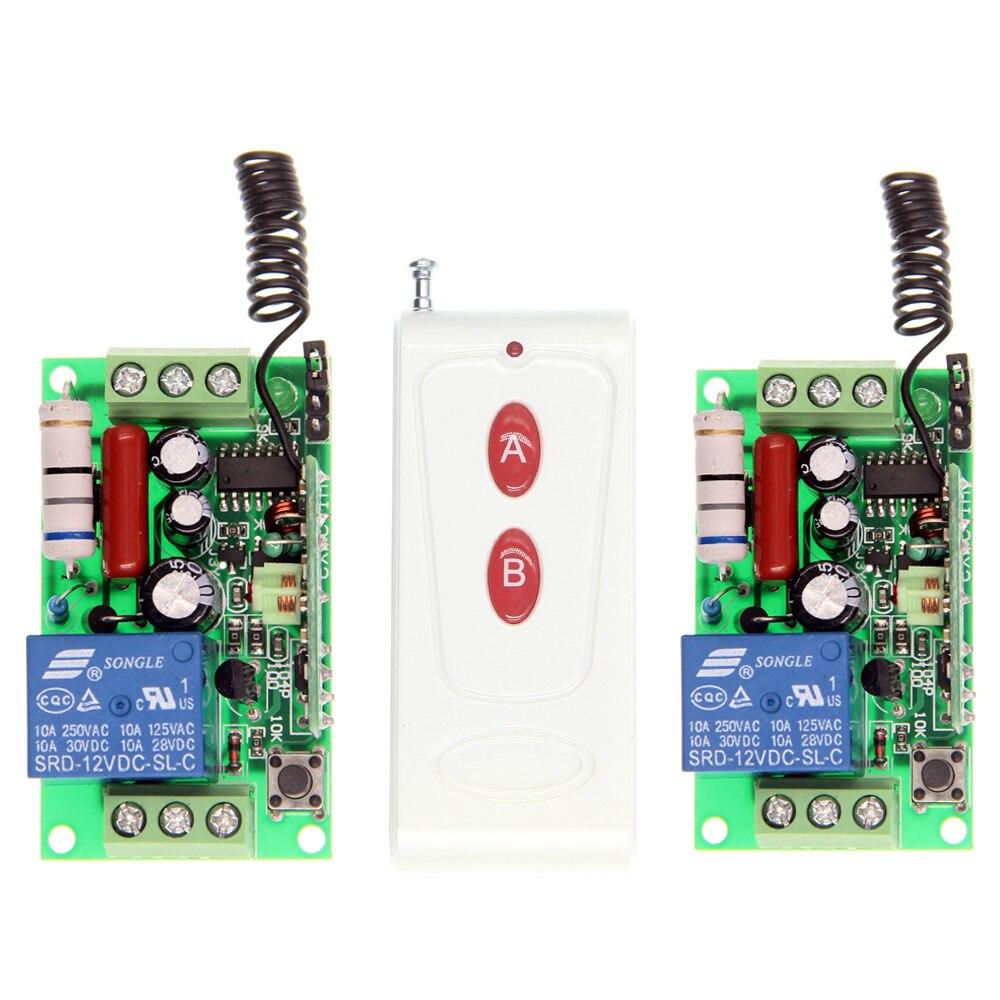 1000m AC 220V 110V 1 CH 1CH RF Wireless Remote Control Switch System, 2CH Transmitter + 2 X Receiver,Self-lock Jog,315/433.92