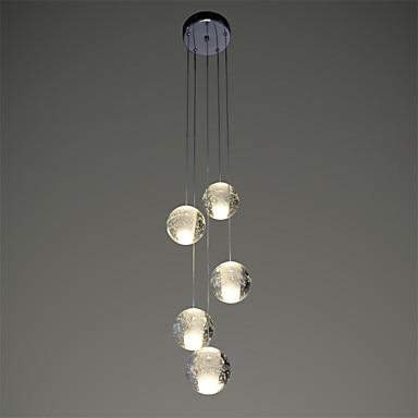 5 Heads Crystal Ball Modern LED Pendant Light Fixtures Dinning Room Hanging Lamp Indoor Lighting Luminaire Lamparas Colgantes