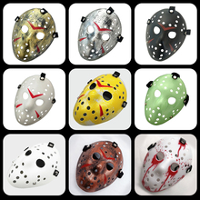 лучшая цена Halloween Mask Voorhees Friday Stylish Jason the 13th Horror Hockey Mask Scary Halloween Mask Party Masks Night Jason Mask