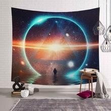 Animal Tapestry Cat Wall Hanging Moon Bohemian Yoga Mat Polyester Starry Sky Blanket Fox Pattern Home Decoration Accessories