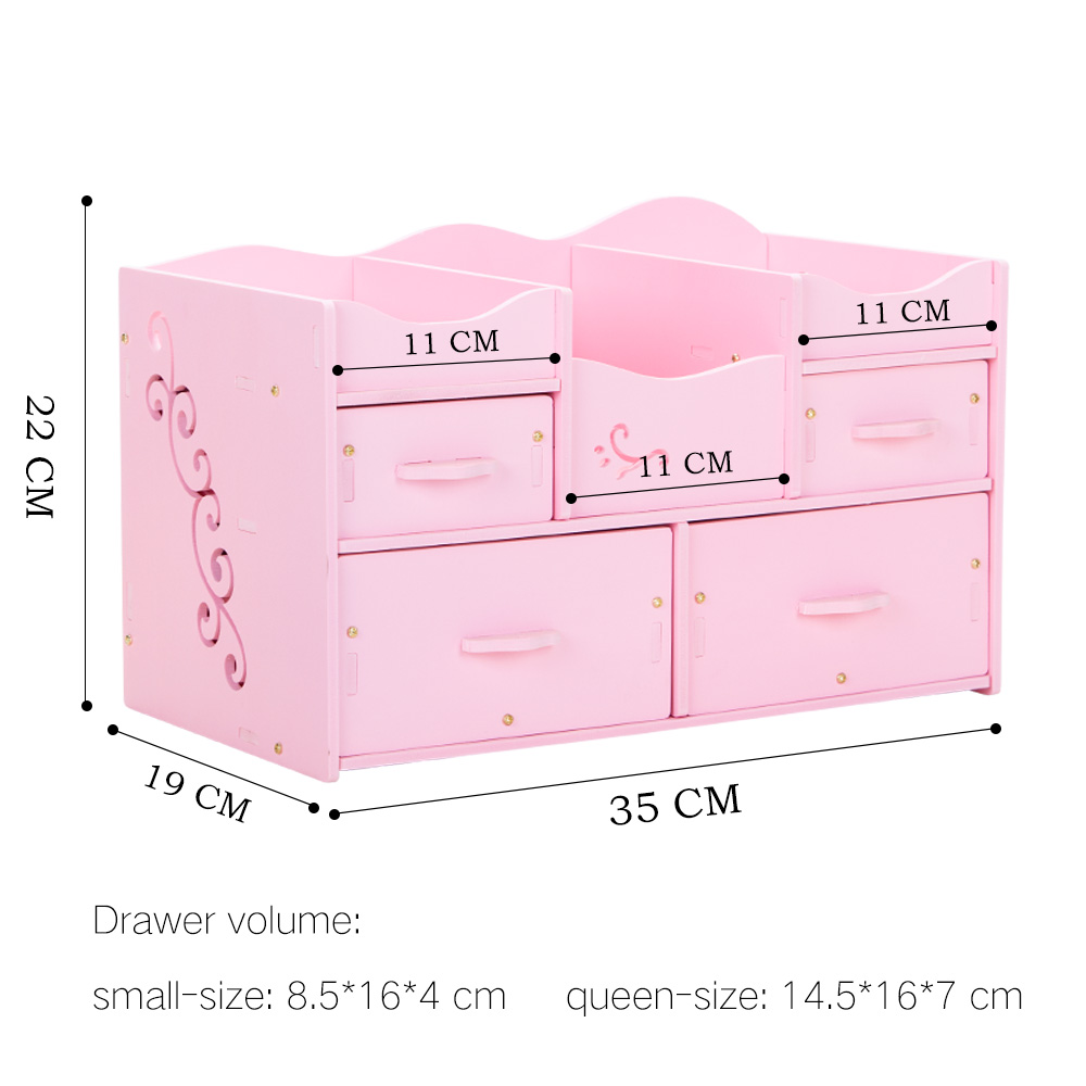 Eco friendly Plastic Cosmetic Organizer Waterproof Modern DIY Makeup Storage Drawer Organizer for Cosmetics Home Organization in Storage Boxes Bins from Home Garden