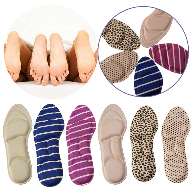 1 Pair Foam Ladies Feet Care Massage High Heels Sponge 3D Shoe Insoles Pads Cutting DIY massage insole for women heel high leather latex half size heels pads shoe insoles antibacterial thickened insert feet care