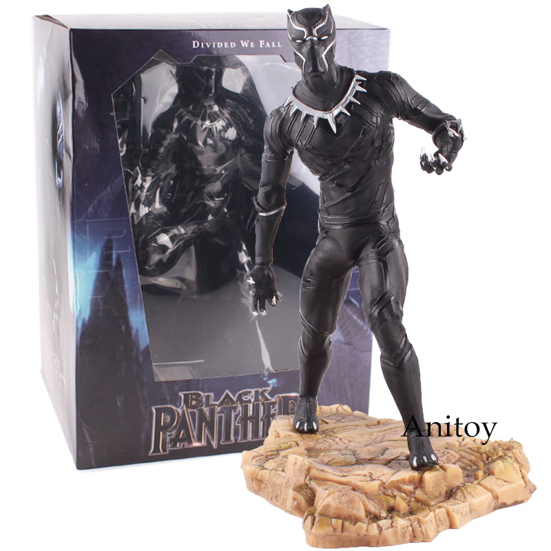 Civil War Black Panther Action Figure United We Stand Divided We Fall PVC Figure Collectible Model Toy 29cm KT4786 new hot christmas gift 21inch 52cm bearbrick be rbrick fashion toy pvc action figure collectible model toy decoration