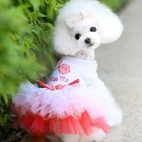 Повседневный жилет для домашних любимцев собак кошек Одежда для животных для щенков маленькая собака Кот кружевная юбка принцесса платье-п...